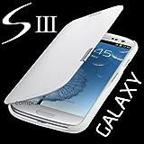 Samsung Galaxy S3 mini i8200n i8190 Flip Cover Weiss / White Hülle Tasche Akkudeckel Flip Case inkl. Displayschutzfolie