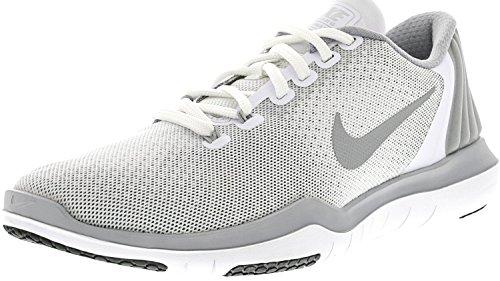 Nike Kvinders Flex Øverste Tr 5 Cross Training Sko Hvid / Metallisk Sølv / Ulv Grå / Stealth 1KwbU
