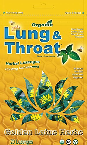Golden Lotus Herbs Organic Lung and Throat Lozenges (1 Bag)