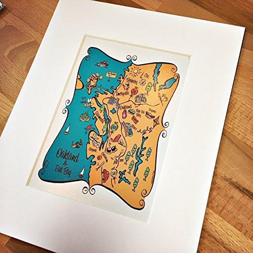 Oakland City Map Art Print (Oakland Map)