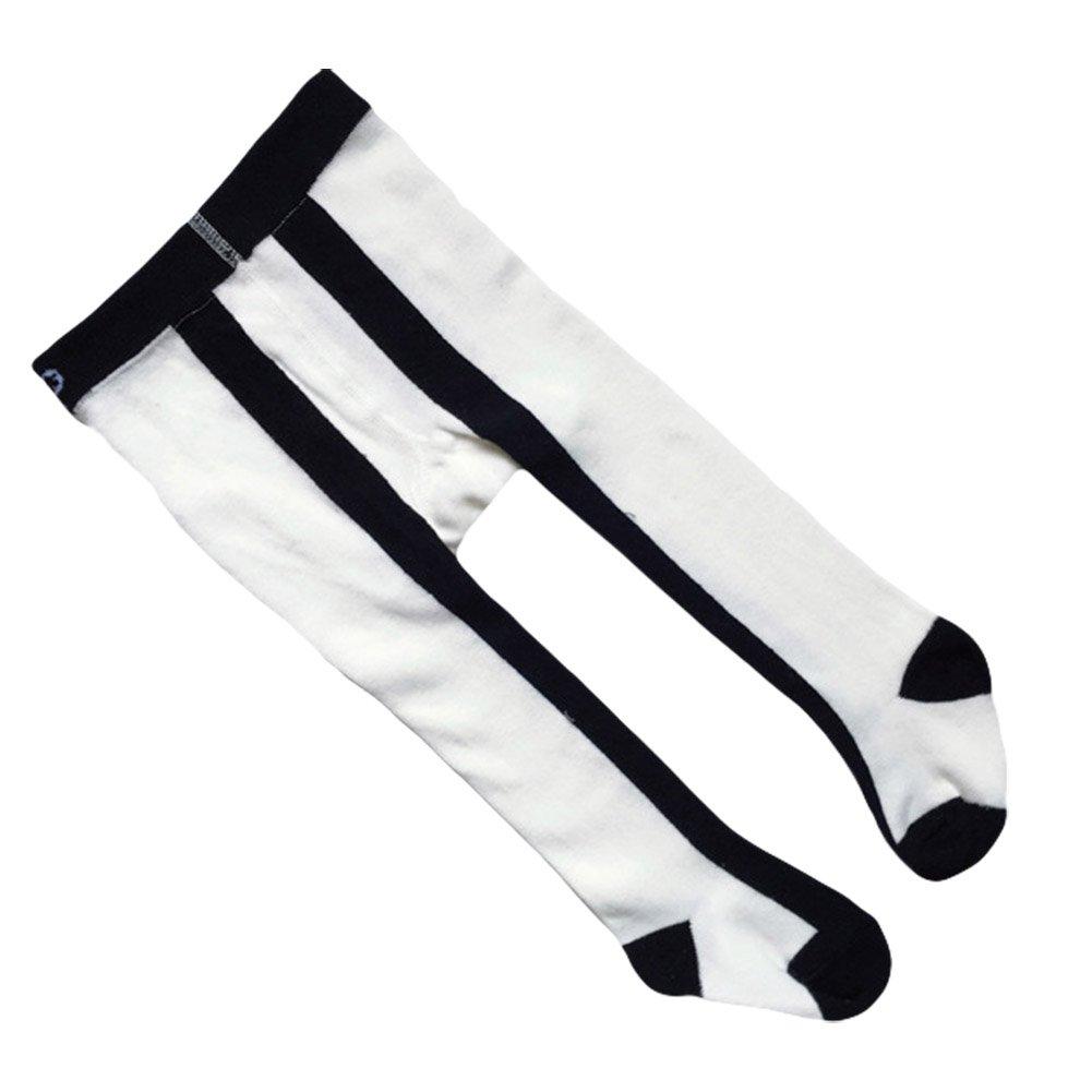 Taiycyxgan Baby Toddler Girls Cotton Tights Black Stripe Stocking Leggings Pants 0-6T