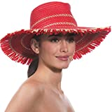 Eric Javits Luxury Fashion Designer Women's Headwear Hat - Havana - Red Mix