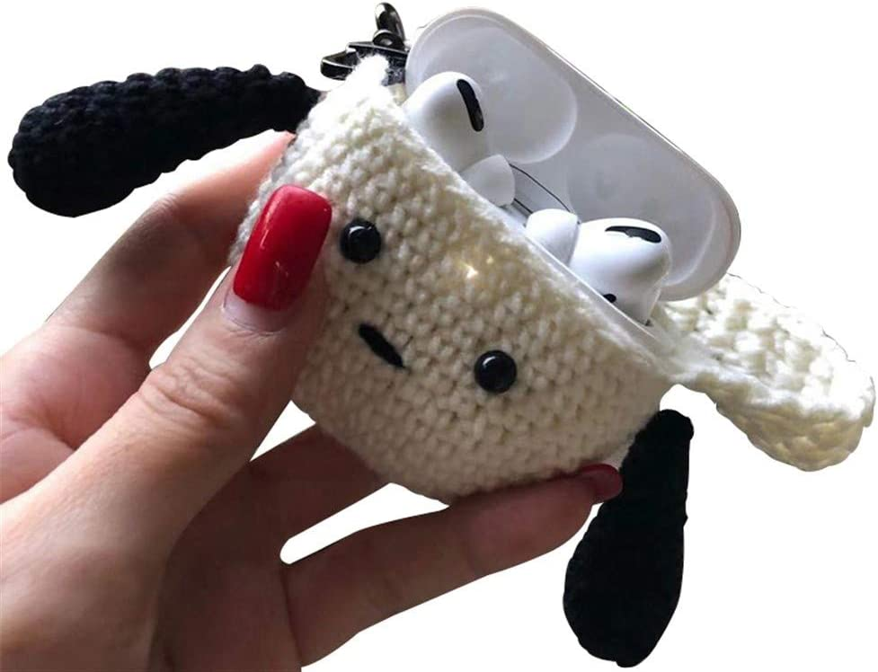 7 Styles Protect Your Bluetooth Headset from harm HJAZ Handmade Knitting Case Cover for AirPods Pro,Airpods 3 Cartoon Storage Bag Full Protective Premium Cover,Wireless Bluetooth Headset Case Cover