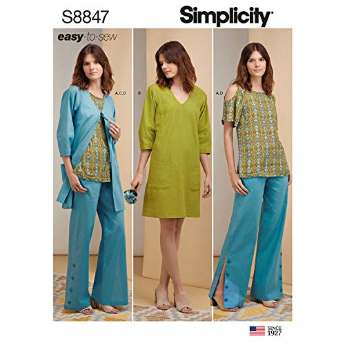(Simplicity US8847H5 Pattern S8847 Miss Petite Easy to Sew Sportswear, H5 (6-8-10-12-14))