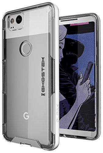 Google Pixel 2 Case, Ghostek Cloak 3 Series Ultra Slim Clear Hybrid Shockproof Protective Cover Designed for Pixel2 2017 - Supports Fingerprint Touch ID   -