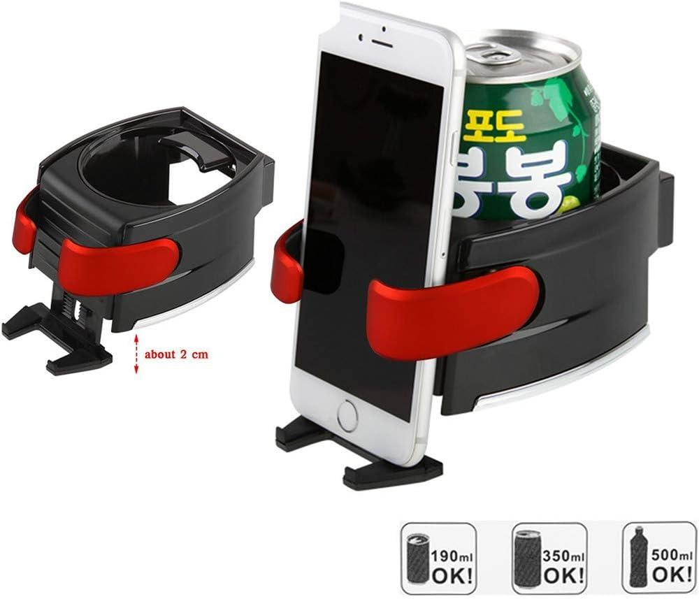 WINOMO 2 in 1 Car Mount Holder Adjusting Hook Water Bottle Holder Air Vent Phone Holder Bracket Red