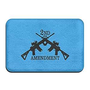 2nd enmienda pistola disparar al aire libre interior Funny Doormats