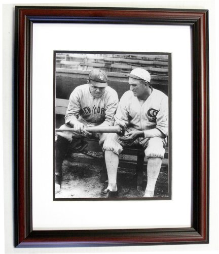 Babe Ruth Framed (Babe Ruth and Joe Jackson 8x10 Photo in an 11x14 Double Matted Cherry Frame)