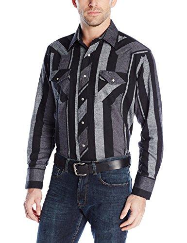[해외]랭글러 남자 서부 플란넬 경량 스트라이프 셔츠/Wrangler Men`s Western Flannel Lightweight Stripe Shirt