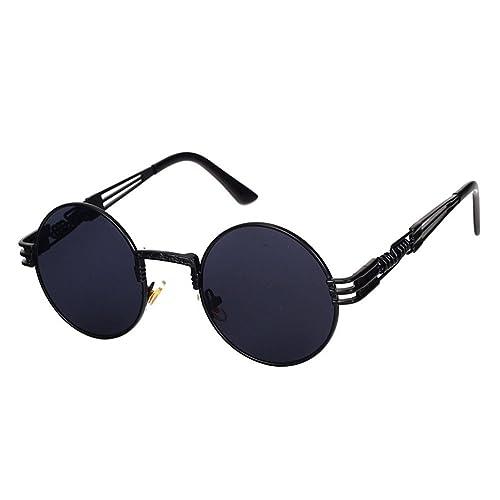 Highdas Gafas de sol de Steampunk Ssombras Punk Rock Vintage Gafas de sol