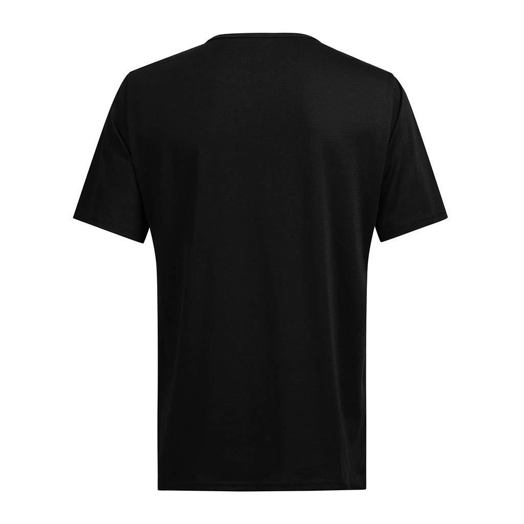 SFE Fashion Shirts,Men Casual Spring Summer Print Short Sleeve O-Neck Tops Blouse T-Shirts