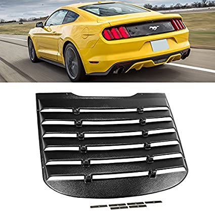 Amazon.com  For 2015-2017 Mustang Rear Windshield Louver Cover Black ... ab0c507c640