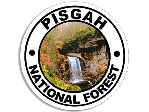 American Vinyl Round Pisgah National Forest Sticker (Decal rv Hike Hiking)
