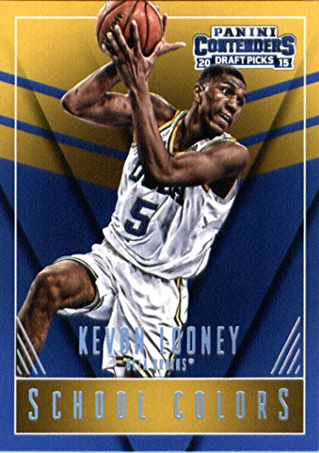 2015 Panini Contenders Draft Picks School Colors #27 Kevon Looney Rookie Basketball Card in Protective Screwdown Display Case