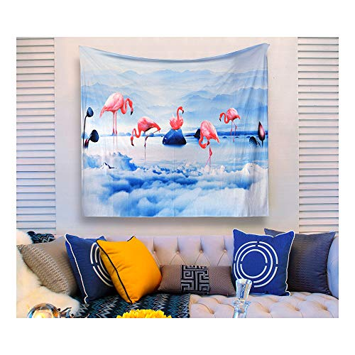 - Aidvox Tapestry Wall Tapestry Wall Hanging Flamingo Tapestry Tapestries Trippy Tapestry Watercolor Dorm Decor Living Room Bedroom (Size:51.2