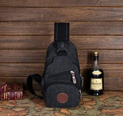 Chest Bag Home Borsa a Tracolla Multifunzionale per Gli Sport all'Aria Aperta Borsa a Tracolla per Gli Uomini con Tracolla Sportiva (Nera)