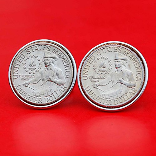 Mint Coin Designs - US 1776 ~ 1976 Bicentennial Design Washington Quarter Dollar Gem BU Uncirculated Special Mint Set Coin Cufflinks NEW - Drummer Boy Reverse