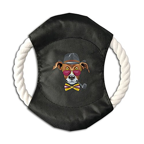 WustegHoodie Steampunk Dog Dog and Cat Cotton Rope Canvas Frisbee Dog Molar Cleaning Tooth Toy