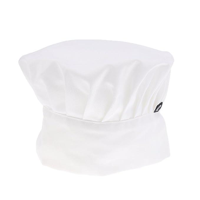 Sombrero De Cocinero Chef Adulto Elástica Panadero Elástica Cocina  Casquillo Del Traje - blanco 28091a91784