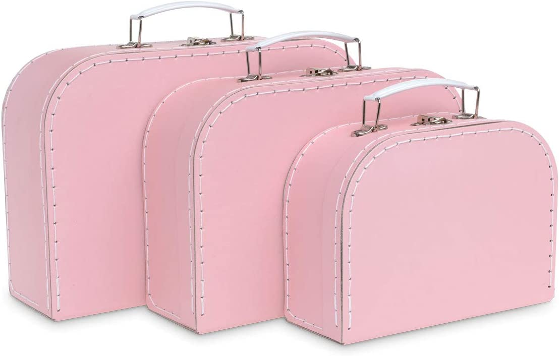 blush home decor.htm amazon com jewelkeeper paperboard suitcases  set of 3     nesting  jewelkeeper paperboard suitcases
