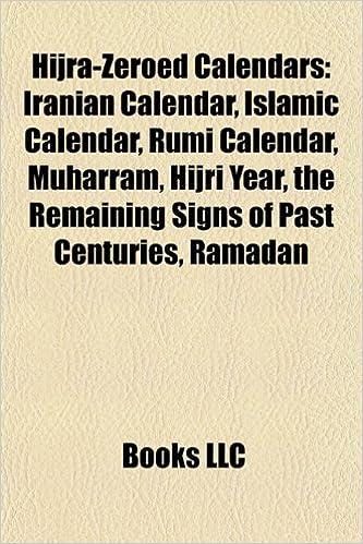 Hijra-zeroed calendars: Iranian calendar, Islamic calendar