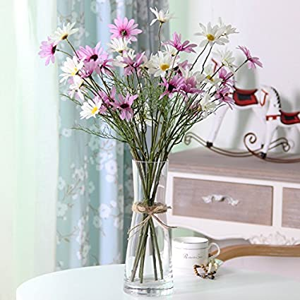 Amazon Xhopos Home Artificial Flowers Glass Vases Living Room