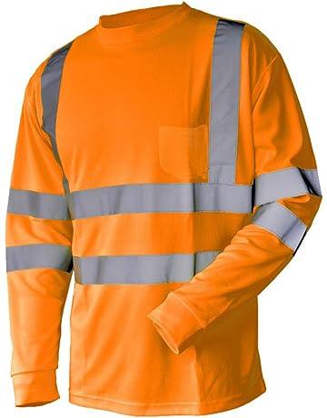 7705427c5ea L M Hi Vis T Shirt ANSI Class 3 Reflective Safety Lime Orange Short Long  Sleeve HIGH