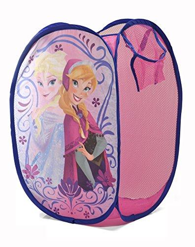 Disney Frozen Pop Up Hamper, Pink, 21.5 x 13.5 x 13.5 Disney Princess Bedroom Furniture