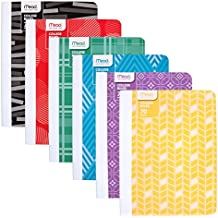Mead Composition Books / Notebooks, College Ruled Paper, 70 Sheets, Fashion, Design Will Vary, 6 Pack (38211)