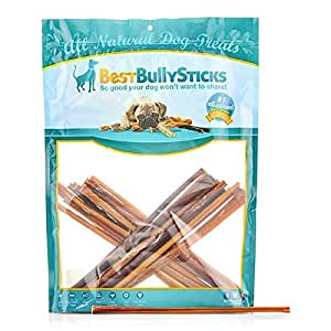 usa 12 inch thin bully sticks by best bully sticks made in america pet supplies. Black Bedroom Furniture Sets. Home Design Ideas