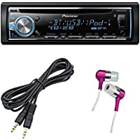 Pioneer DEH-X6800BT Car Stereo Receiver CD Player with Bluetooth + 3.5 mm Auxiliary Cable Cord