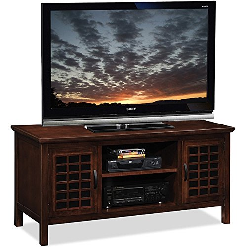 Living Room Wood Custom Glass 50-inch TV Stand & Media Conso