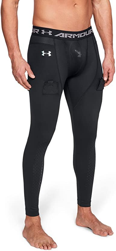 Details about  /Under Armour Mens Hockey Leggings UA HeatGear Sports Black Fitted Baselayer L