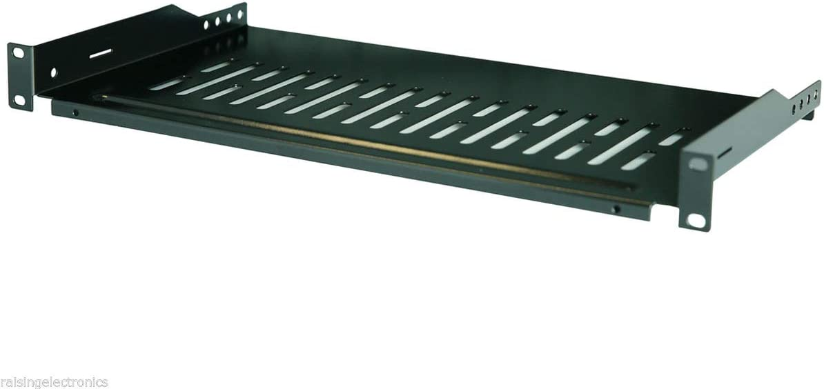 Raising Electronics Server Shelf Cantilever Tray Vented Shelves Rack Mount 19 Inch 1U 12Inch (300mm) Deep