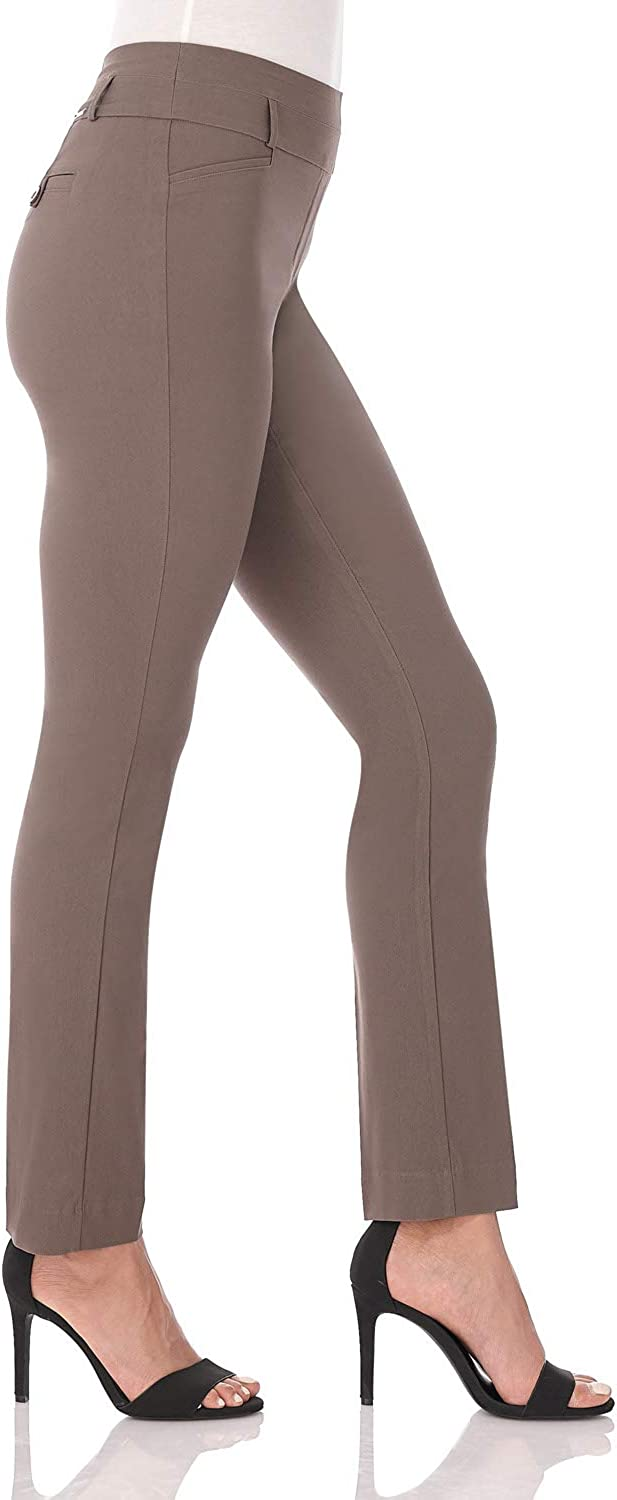 Rekucci Womens Ease in to Comfort Fit Stretch Slim Pant