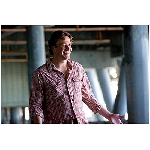I Love You, Man 3 8 inch x 10 inch PHOTOGRAPH Jason Segel Grinning in Plaid Shirt Palms Up kn