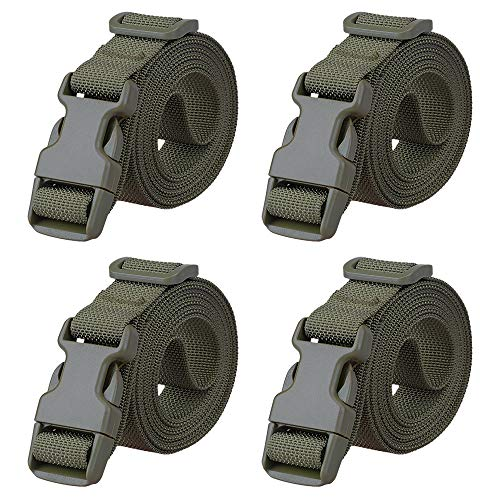 """Magarrow 78"""" x 1"""" Nylon Strap Buckle Packing Straps Travel Accessories 1-Inch Belt (Green (4-PCS)) from MAGARROW"""