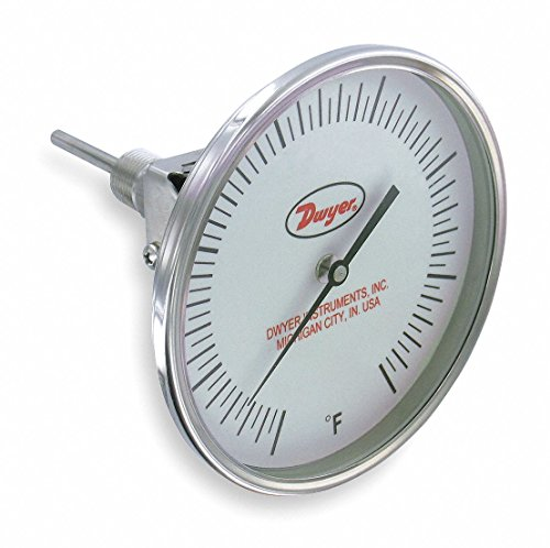 240f Dial Thermometers - Bimetal Thermom,5 In Dial,20 to 240F