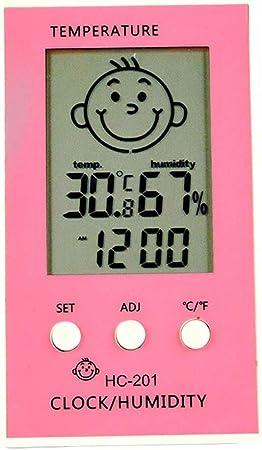 Termómetro Para Bebé Higrómetro Digital Lcd Para Habitación De Bebé Temperatura Y Humedad Monitor De Humedad Con Sonrisa Emoción Triste Rosa Amazon Es Bebé