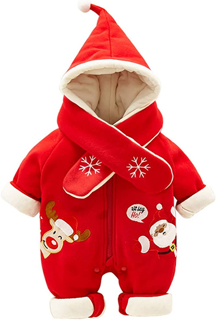 Fairy Baby Infant Baby Boy Girl Winter Christmas Thick Outwear Romper Warm Fleece Jumpsuit