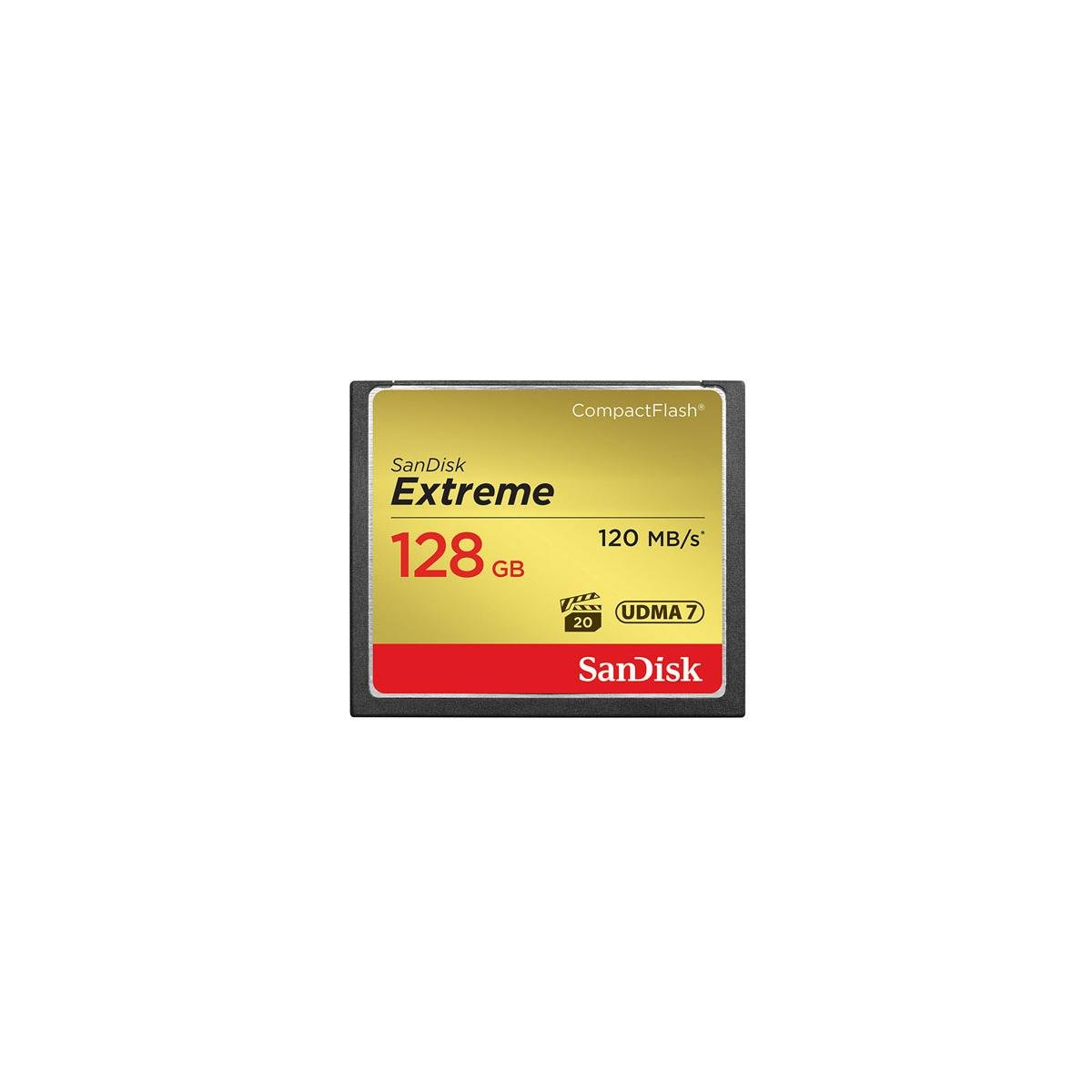 SanDisk 128GB Extreme Compact Flash Memory Card, Transfer speed up to 120MB/s - Bundle With Extreme 128GB UHS-I Class 10 U3 V30 SDXC Memory Card by SanDisk