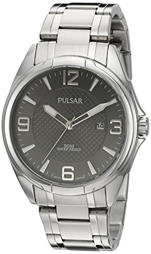 Pulsar Men's 'Basic Dress' Quartz Silver-Tone and Stainless Steel Watch, Color: (Model: PH9095)