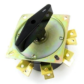 DealMux 380V 63A 16 Terminales selector giratorio interruptor de cambio para la máquina de soldadura: Amazon.es: Bricolaje y herramientas