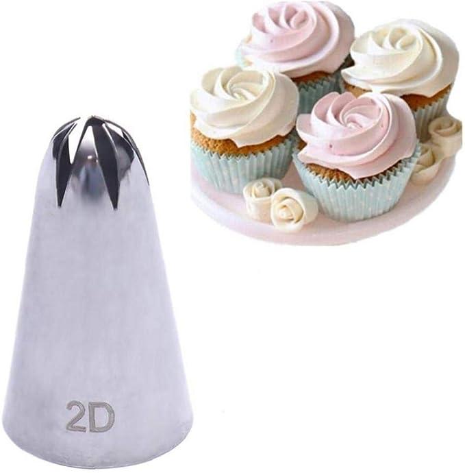 5x Large Stainless Steel Cake Cream Icing Nozzle Cupcake Head Dessert Decorat/_UK