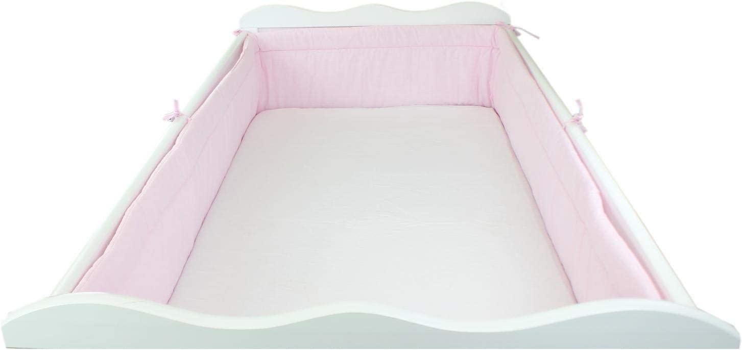 Cot 140x70 cm 420x30 cm Bear Moon Blue TupTam Baby Cot Bumper All Around Padded Bed Protection