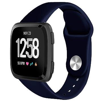 Exing Hebilla de Reloj Puede para Reloj Inteligente Fitbit Versa de TPU Correa de Reloj Pulsera Correa, TPU, I, S: Amazon.es: Hogar