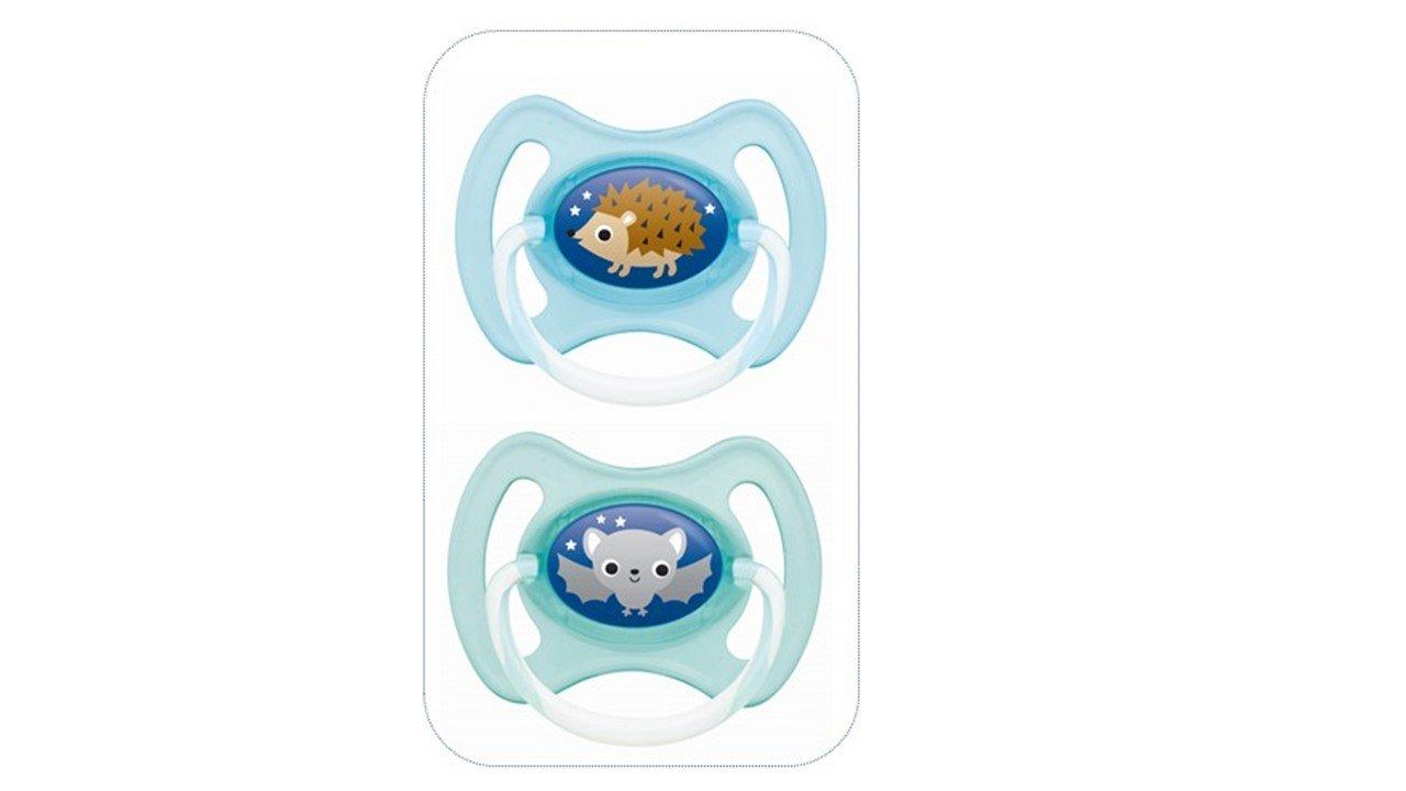 MAM - Chupetes de silicona con arandela para bebés mayores de 6 meses (surtido, 2 unidades)
