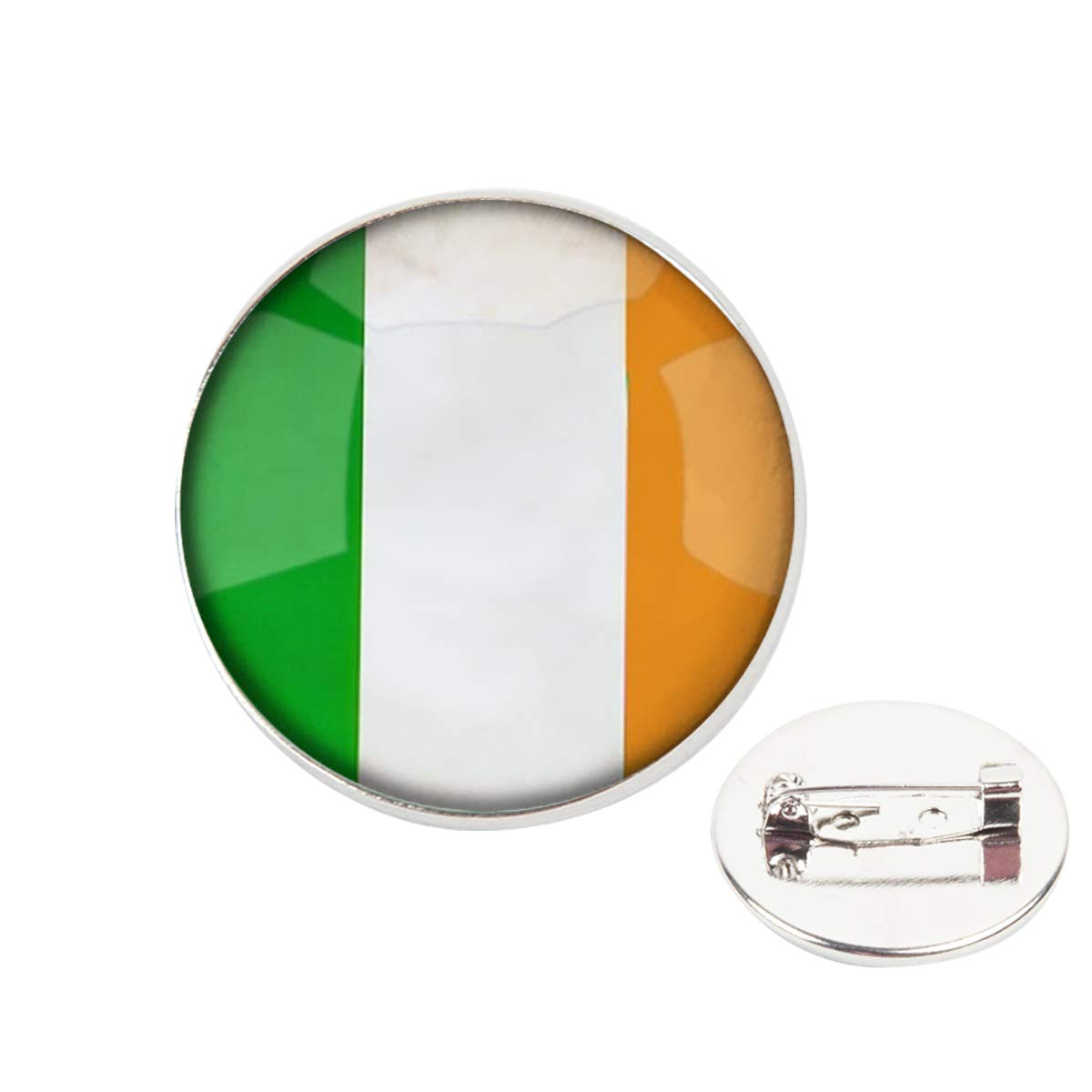 Pinback Buttons Badges Pins The Ireland National Flag Lapel Pin Brooch Clip Trendy Accessory Jacket T-Shirt Bag Hat Shoe