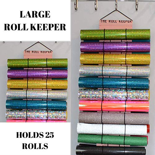 HTV Storage and Adhesive Vinyl Storage, Holds 25 Rolls and Comes in Several Color Choices/Pink 25 from The Roll Keeper