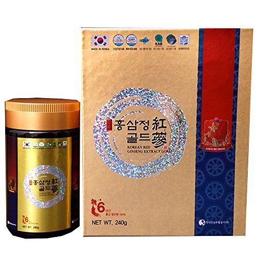 Korean Red Ginseng 6 years Gold Extract, Saponin, Panax, Premium Quality, Made in Korea, 240 gram by Hucode